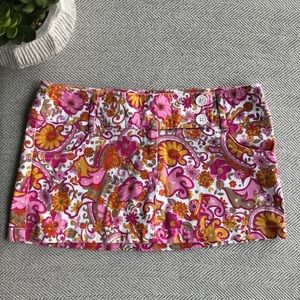Wet Seal Pink Floral Paisley Mini Skirt